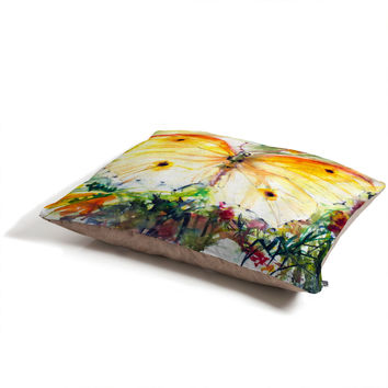 Ginette Fine Art Yellow Butterfly Pet Bed