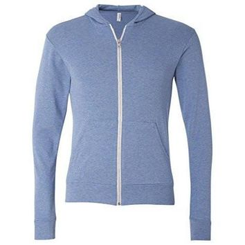 Yoga Clothing for You Mens Full-Zip Lightweight Hoodie