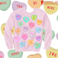 AntiValentine's Day Insult Heart Candy Kawaii by fASHLINdotcom