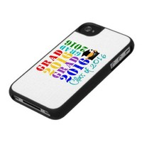 Grad  Class of 2016 iPhone 4 Case from Zazzle.com