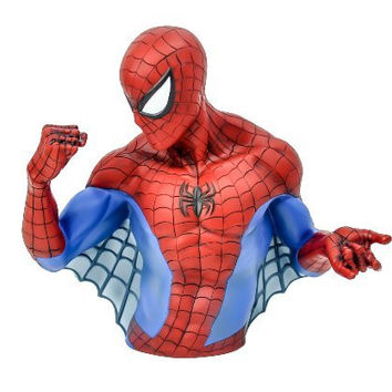 The Amazing Spider Man Bust Statue Money Bank