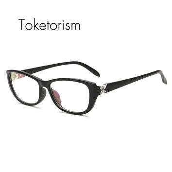 Toketorism Elegant new rhinestone eyeglass frames women occhiali da vista for hipster W5263