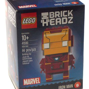 LEGO Brickheadz Marvel Iron Man 41590 Building Toy 96 pcs Construct Brick Heads