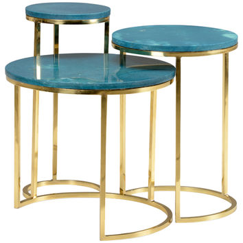 Seafoam Nesting Tables Set of 3