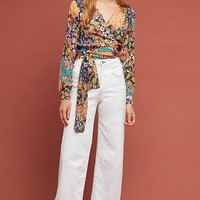 Floral Patchwork Wrap Top