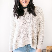 Longing For You Shearling Hooded Sweater - Cream