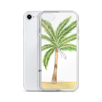 Tropical phone case, iphone 7 Plus/8 Plus, 7/8, iPhone X, Palm tree phone case, 6 Plus/6s Plus, 6/6s, Artist painted cell cover