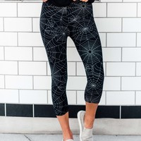 SA Exclusive Itsy Bitsy Web Capri Leggings