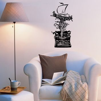 Wall Decal Typewriter Ship Tree Fairy Tale Miracle Vinyl Sticker (ed1045)