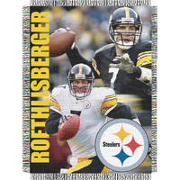 Ben Roethlisberger #7 Pittsburgh Steelers NFL Woven Tapestry Throw Blanket (48x60)