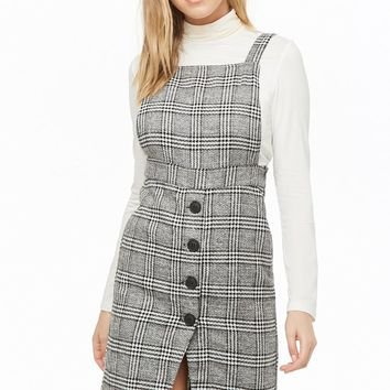 Tweed Glen Plaid Pinafore Dress