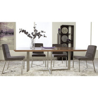 Tosca Dining Table Walnut / Brushed Stainless Steel