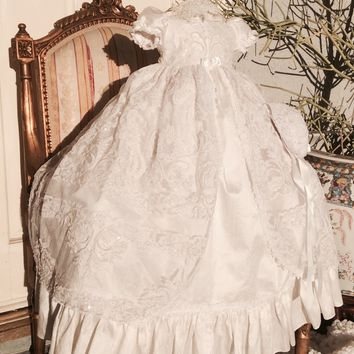 Adelina- silk christening gown-bautizo-heirloom gown-baptismal