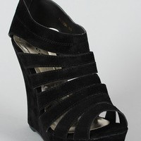 Alyson Strappy Open Toe Platform Wedge