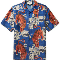Gucci - Camp-Collar Printed Silk-Twill Shirt