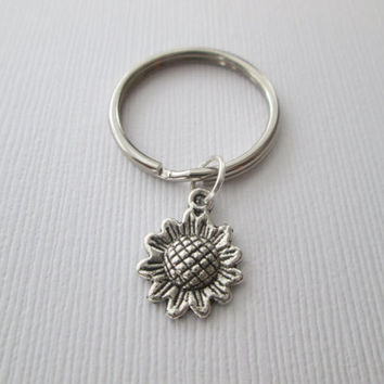 Tiny Sunflower Keychain