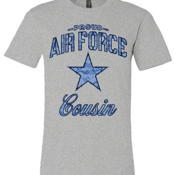 Proud Air Force Cousin Unisex T-Shirt (Camo)