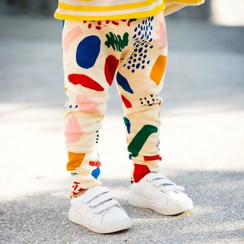 Kids baby Ninth Graffiti pants summer spring cotton infant Jogging pants newborn boys Girls clothes trousers size 6 12 18 24 M