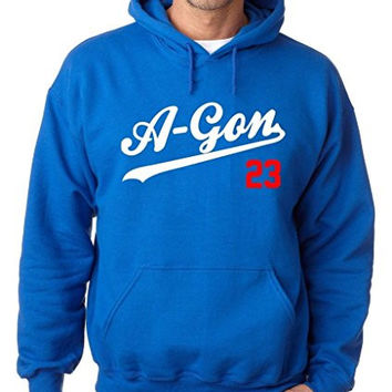 "Adrian Gonzalez Los Angeles Dodgers ""A-Gon"" Hooded Sweatshirt ADULT LARGE"