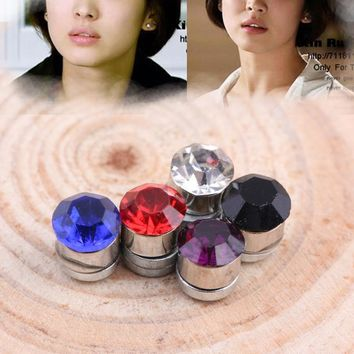 Non Piercing Clip On Magnetic Magnet Earring Stud Women Fake Earrings Fashion Multi-Colored