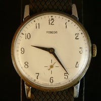 Vintage Pobeda watch small seconds hand