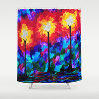 Streetlights Shower Curtain by ArtLovePassion