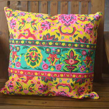 Pillow case Pillow covers Throw pillows Bed pillow case Decorative pillows Outdoor pillows Kilim pillow Boho Garden Pillow covers 16 x 16