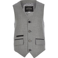 River Island Boys grey silver suit vest