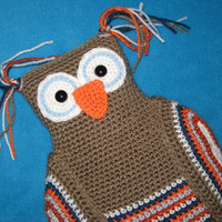 Crochet Pattern Owl Hot Water Bottle Cover PDF