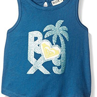 Roxy Girls' Dawn Patrol Tank, Dark Blue, 12-18 Months