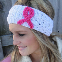 Women's Winter Knit Breast Cancer Awareness Headband