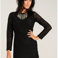 Black Endless Lace Mini Party Dress  | $17.50 | Cheap Trendy Club and Party Dresses Chic Discount Fa