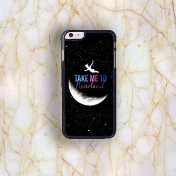 Dream colorful Dream colorful Peter Pan Take me to Neverland Plastic Case Cover for Apple iPhone 6 P