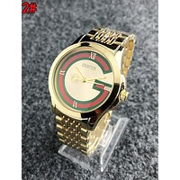 GUCCI Trending Woman Men Stylish Stripe Quartz Watches Wrist Watch 2#