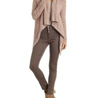 Fuzzy Cascade Cardigan by Charlotte Russe