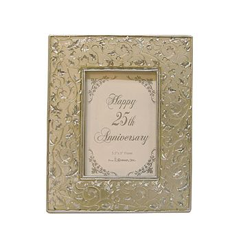 "25th Silver Wedding Anniversary 3.5"" x 5"" Photo Frame #60849"