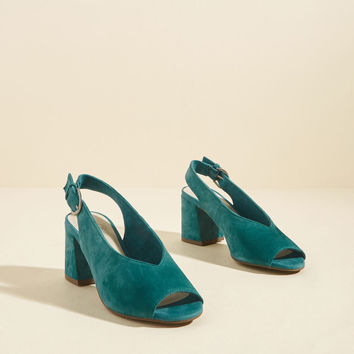 Playwright Suede Block Heel