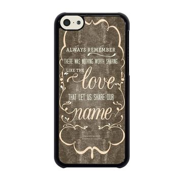 the avett brothers quotes iphone 5c case cover  number 1