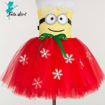 Dress Minion Cosplay Dress Halloween Costume Dress