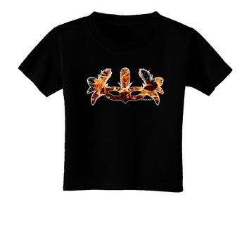 Fire Masquerade Mask Toddler T-Shirt Dark by TooLoud