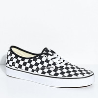 Vans Authentic Black & White Checkered Skate Shoes | Zumiez