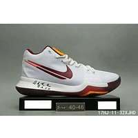 NIKE ID Kyrie 3 Owen 3 generation fashion shoes F-HAOXIE-ADXJ White