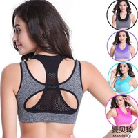 New Style Women Yoga Bra Sports Bra for Running Gym Fitness Athletic Bras Padded Push Up Tops Sport T-shirts Quick Dry For Girls