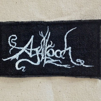 Agalloch patch, hand-painted made to order