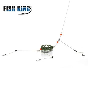 1PC 30G-80G Fish Holder Fishing Accessory With Lead Bait Cage Inline Hook Method Feeder Lure For Fishing Tackle