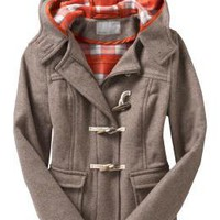 Women's Hooded Wool-Blend Toggle Jackets