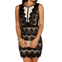 Black Vintage Lace Dress