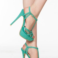 Teal Faux Suede Platform Open Toe Heels @ Cicihot Heel Shoes online store sales:Stiletto Heel Shoes,High Heel Pumps,Womens High Heel Shoes,Prom Shoes,Summer Shoes,Spring Shoes,Spool Heel,Womens Dress Shoes