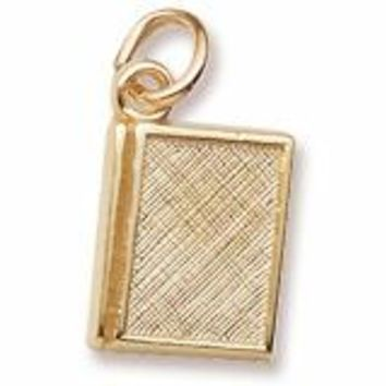 Book Charm In Yellow Gold