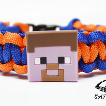 Mine Craft Bracelet, Steve Bracelet, Mine Craft Jewelry, Steve Jewelry, Custom Mine Craft Bracelet, Mine Craft Paracord Bracelet